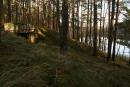 Widok ogólny, wtle jezioro Kosin Mały