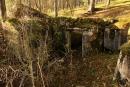 Wnętrze schronu, widok odstrony płyty pancernej