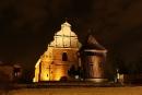 Kościół pw.św.Wojciecha, fasada świątyni, widok zulicy