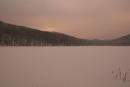 Jezioro Łubówko wzimowej szacie