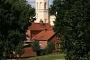 Pałac Mierzęcin - widok na wieże