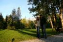 Wczesny ranek w parku w Tatrzańskiej Łomicy