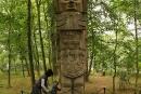 Kamienny wojownik zcywilizacji Tolteków