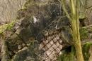 Strop schronu nr9, widok odpola ostrzału