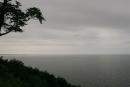 Zaciągnięta chmurami panorama naZatokę Pomorską