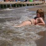 Na plaży w Mrzeżynie