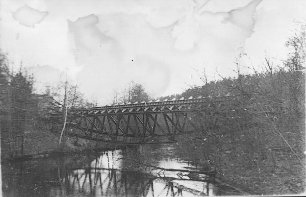 Most nadGwdą, fotografia z1945