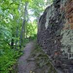 Zachodnia część murów obronnych