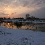 Zimowy krajobraz, ładnie, aledlaczego takbiało?