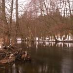 Drawa w zimowym wydaniu, szara, bura i ponura